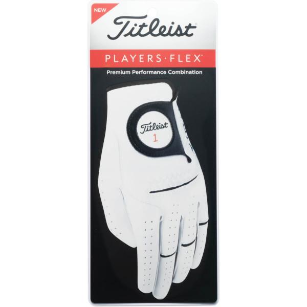 Titleist Players Flex Cadet Læder Herre Golfhandske - Pearl